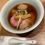 Ramenuxokakicchin - 会津地鶏そば 味玉