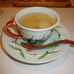 由布院 玉の湯 - 白インゲンのスープ