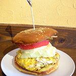 U2 Cafe - ベーコンエッグチーズバーガー