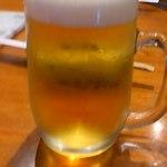 炭火焼肉 舞牛 - ドリンク写真:生ビールで乾杯!