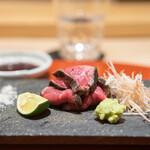 肉屋 雪月花 NAGOYA - 田中畜産のマルシンの炭の叩き