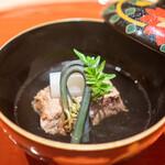肉屋 雪月花 NAGOYA - 松阪牛のタン 鍵わらび、独活