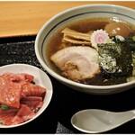 148510841 - 中華そば+づけ玉子+鮪丼(ミニ) 850+100+300円