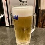 ちょもらんま酒場 - 「生ビール」520円也。