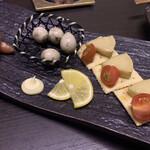 炙り炉端 山尾 - 藁燻製3種盛り