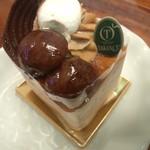 新宿高野 - 栗のケーキ