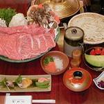 むかい - 料理写真:元祖肉の水炊きコース 特選松阪牛を使った名物鍋。