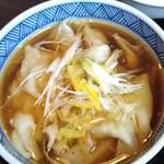 煮干し中華 八 - わんたんは下味強め。