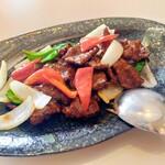 中華料理 桃李 - 牛肉フィレ肉と彩野菜の黒胡椒炒め