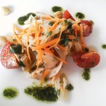 14858360 - 鶏肉とセロリのサラダ仕立てサルサヴェルデ