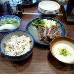 14859582 - 牛たん厚切定食+とろろ(1,200円+210円=1,410円)