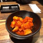 焼肉陽山道 - 美味しいカクテキでした。