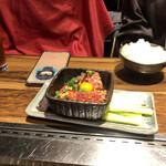 焼肉陽山道 - ユッケ(お肉の型が少し変わってます)