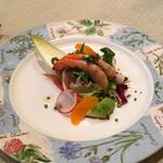 ビストロ ラマージュ - 天使のエビと生ハムのサラダ