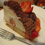 ベリーカフェ - イチゴのモンブラン