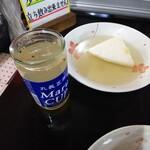 丸健水産 - 日本酒出汁割+おでん