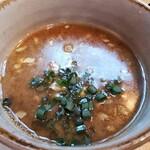 148614904 - 冷やしつけそば 茎わかめ3倍! スープ