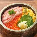 北海道はでっかい道 オホーツクの恵み 湧別町 - ねぎとろイクラ丼