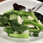 北京烤鴨店 - 青菜炒め