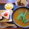 Tedukuriudomminokichi - 料理写真:カレーセット 680円(カレーうどん、おにぎり二個、一品)