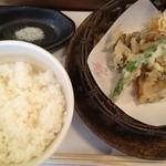 いばらき食彩香寿亭 - 揚げ物(海老しんじょうと茨城野菜の天麩羅)