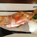 いばらき食彩香寿亭 - 主菜(久慈浜産のどぐろのグリル)