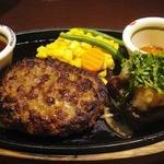 ジューシーブラウン - 粗挽きハンバーグ+バリューステーキランチ:1,180円