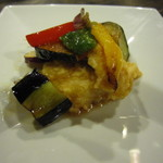 山灯家 - 牛のコース 揚げ魚の黒酢煮