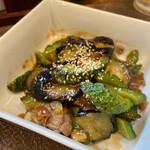 たきみ - 茄子とゴーヤの味噌炒め