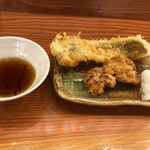 おくまん - 穴子、タコ天ぷら(o^^o)