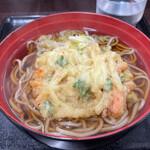菜のはな - 料理写真:かき揚げ天そば 410円。