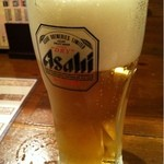 雑食家。 - 生ビール(アサヒスーパードライ)330円