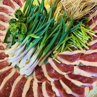 鴨と山菜の鍋コース