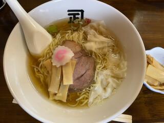 煮干らー麺 カネショウ - ワンタンメン トッピングメンマ