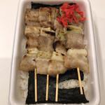 ハセガワストア - 料理写真:やきとり弁当大 塩味(730円)