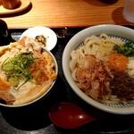 148680655 - トリュフ釜玉+ミニカツ丼セット