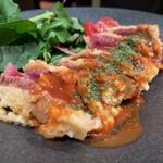 個室 肉寿司と飛騨牛もつ鍋 くずし割烹たてがみ - 馬肉のヒレカツ 1630円