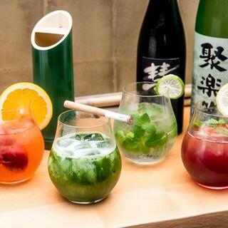 女性にもおすすめのオリジナル『日本酒カクテル』