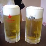 一番亭 - 疑惑の(?)生ビール(中ジョッキ560円)