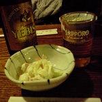 1487768 - お通し&乾杯のビール