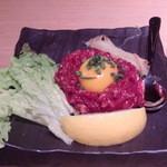 14870954 - 桜肉のユッケ 950円