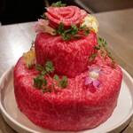 うしごろバンビーナ - ☆【うしごろバンビーナ 恵比寿本店】さん…お祝い肉ケーキ(≧▽≦)/~♡☆