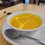 Champ.な - セットのカボチャのスープです。