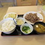 松屋 - 牛焼肉定食 W追加