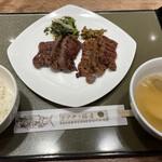 伊達の牛たん本舗 - 牛たん定食 塩・みそミックス 1820円。