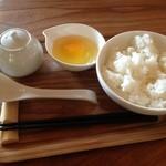 青根草木館 - 拘りの卵かけご飯250円