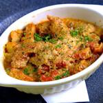 トリッパと4種の豆のトマト煮込み