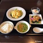 chuugokuryourigouka - 海老と玉子のふわふわ炒めのランチセット