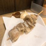ごっつり - 豚ナンコツ串の唐揚げ 1本100円