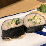 ごっつり - 特製鯖の太巻き寿司 1貫100円×2